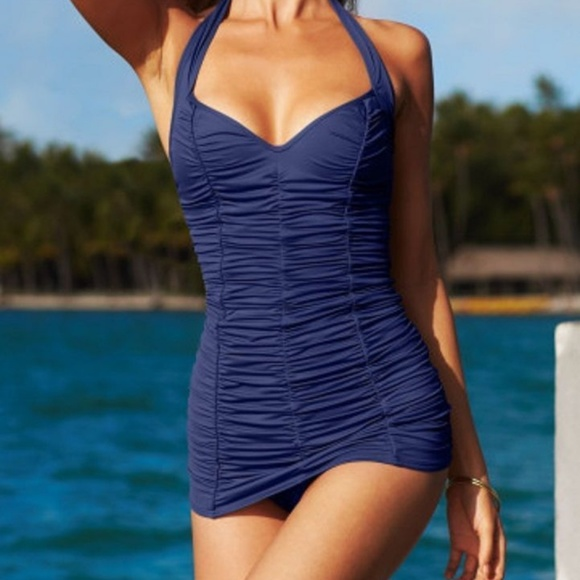 71d547057d Dkny Swim | Donna Karan Pin Up Shirred Dress Sz 6 | Poshmark